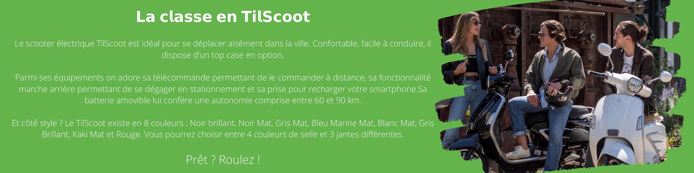 Tilscoot Concession scooter Electrique e-DC Center LYON