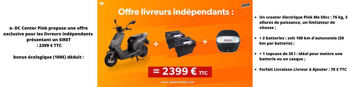 Livreur e-DC CENTER Lyon Scooter 50 CC